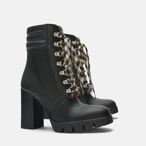 Zara Black Heeled Ankle Boots